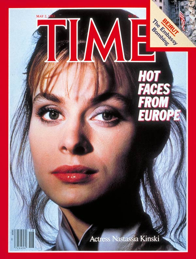 Time Magazine Cover - Nastassia Kinski